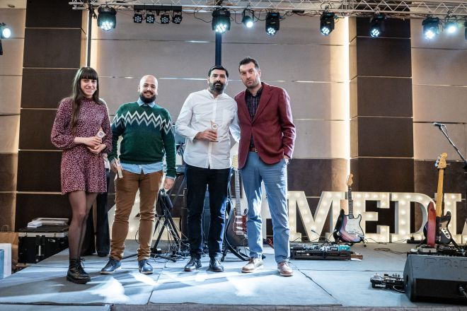 Aπό αριστερά: Φραντζέσκα Γιατζόγλου-Watkinson, Ηλίας Καλλονάς, Παντελής Βλαχόπουλος, Μάνος Μίχαλος