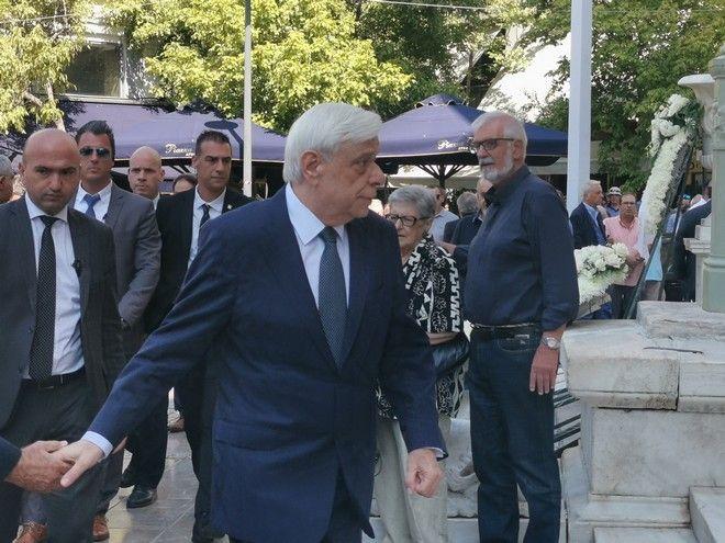 Ο Πρόεδρος της Δημοκρατίας Προκόπης Παυλόπουλος στην κηδεία του Αντώνη Λιβάνη