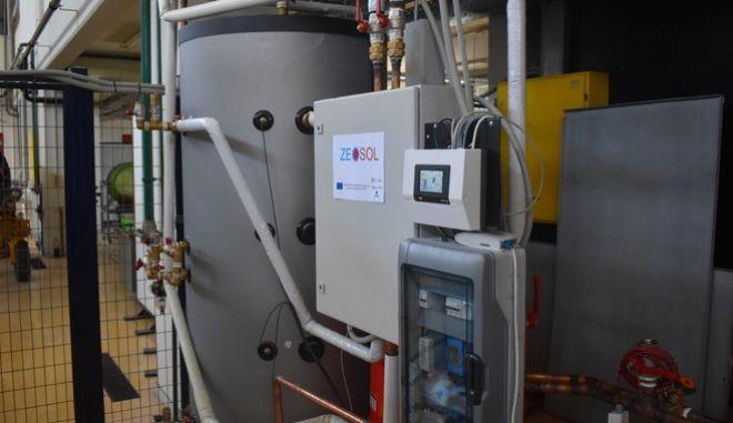 Πρωτοποριακή εγκατάσταση ηλιακής ψύξης-θέρμανσης από το ΕΜΠ