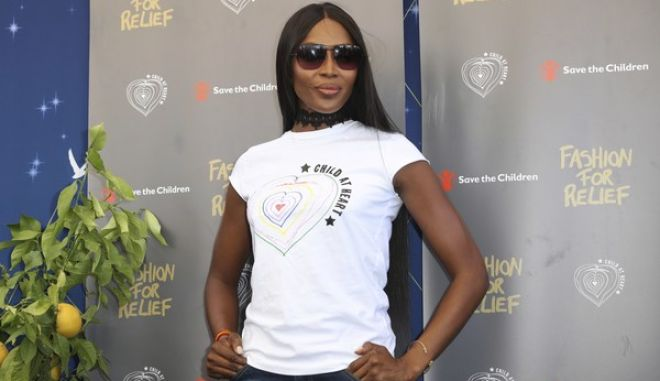 Model Naomi Campbell poses for photographers prior to the press conference for Fashion For Relief at the 70th international film festival, Cannes, southern France, Saturday, May 20, 2017. (AP Photo/Alastair Grant)