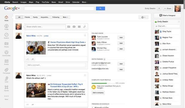 Η homepage της Google
