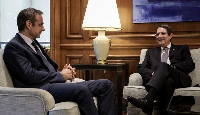 Συνάντηση του πρωθυπουργού Κυριάκου Μητσοτάκη με τον Πρόεδρο της Κύπρου Νίκο Αναστασιάδη