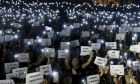 Καρέ από διαδήλωση στο Χονγκ Κονγκ την Παρασκευή 14 Ιουνίου