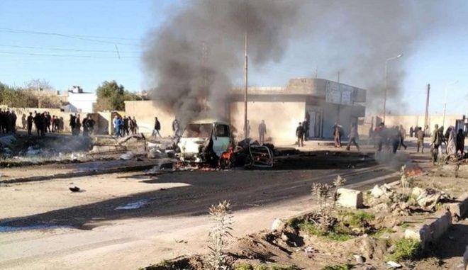 Παγιδευμένο όχημα εξερράγη σε πόλη τη Συρίας