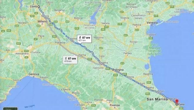 Η αλήθεια για τον Ιταλό που περπάτησε 450 χλμ επειδή τσακώθηκε με τη γυναίκα του