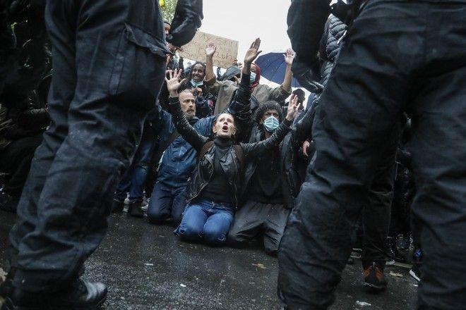 Διαδήλωση για τη δολοφονία του Τζορτζ Φλόιντ στη Μινεάπολη