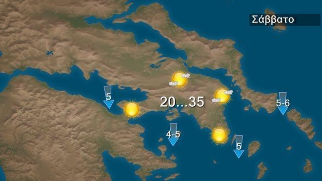 Μικρή πτώση της θερμοκρασίας - Περιορισμένη αστάθεια στα ηπειρωτικά