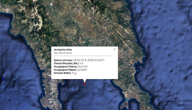 Σεισμός Λακωνία