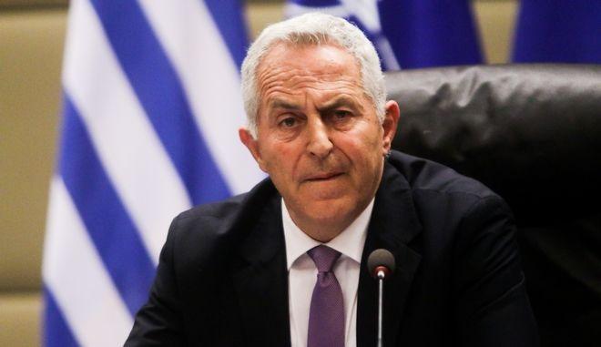 Ο υπουργός Εθνικής Άμυνας Ευάγγελος Αποστολάκης
