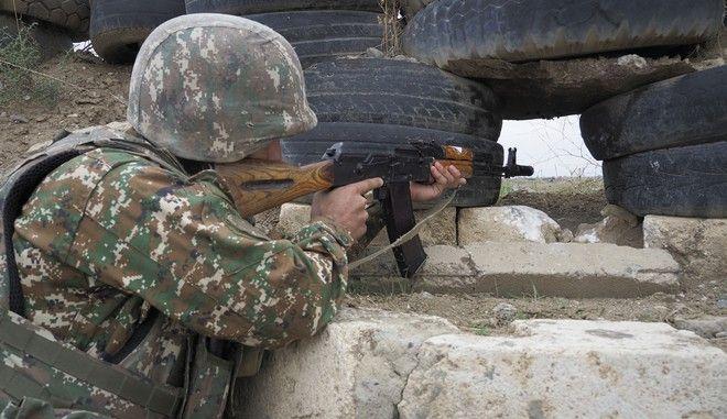 Στρατιώτης στο Ναγκόρνο-Καραμπάχ