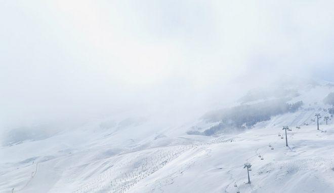 Χιονοδρομικό κέντρο. Φωτο αρχείου.