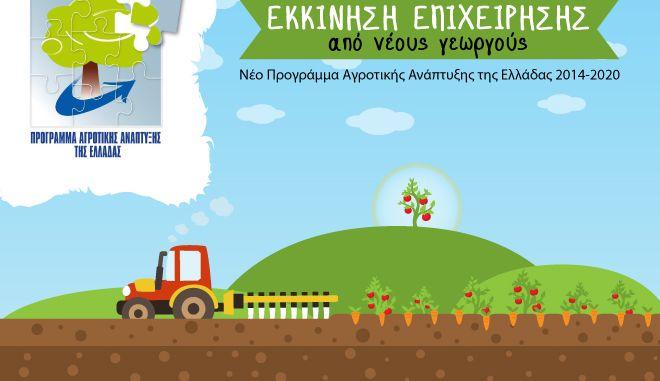 Παράταση της ηλεκτρονικής υποβολής για το Πρόγραμμα Νέων Αγροτών 2016