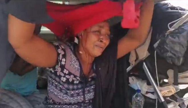 Η γυναίκα που τραυματίστηκε κατά τις διαμαρτυρίες των μεταναστών στη Λέσβο