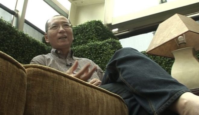 In this image taken from June 3, 2008, video footage by AP Video, Liu Xiaobo speaks during an interview before his detention in Beijing, China. The judicial bureau in the northeastern Chinese city of Shenyang says jailed Nobel Peace Prize laureate Liu Xiaobo has died of multiple organ failure Thursday, July 13, 2017, at age 61. (AP Video via AP)