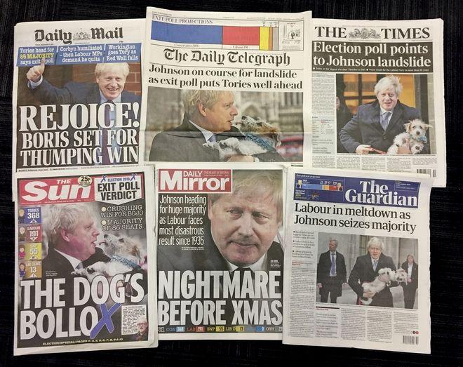 Τα πρωτοσέλιδα των βρετανικών εφημερίδων.