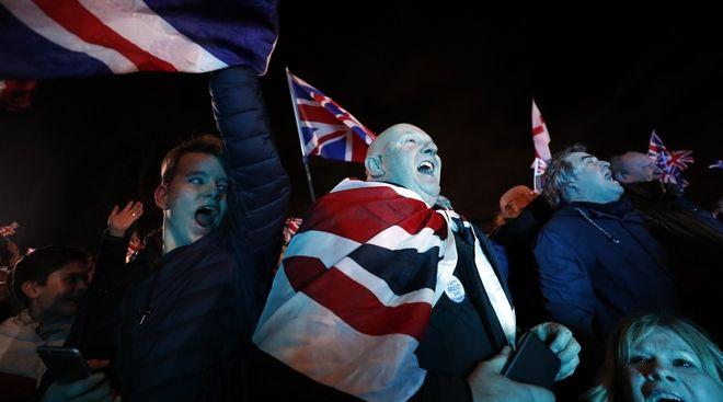 Υποστηρικτές του Brexit στο Λονδίνο