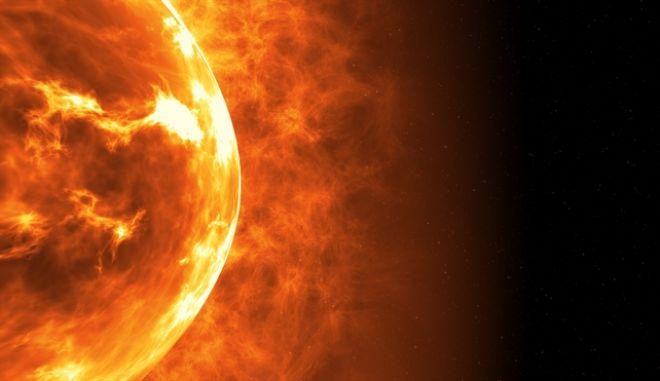 """Μια ηλιακή κηλίδα που μπορεί να """"χωρέσει"""" τη Γη - Εντυπωσιακή εικόνα"""