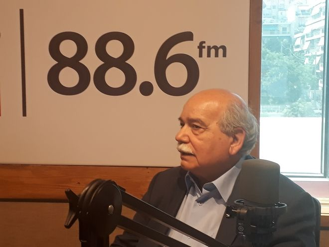 Ο πρόεδρος της Βουλής Νίκος Βούτσης στο ραδιόφωνο του News 24/7