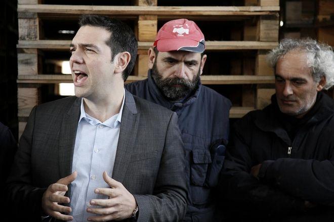 Visit of the president of SYRIZA Alexis Tsipras at the Factory Viomichaniki Metaleutiki (INDUSTRIAL MINING) in Thessaloniki, February 27, 2013./      -,       (..)  , 27  2013.
