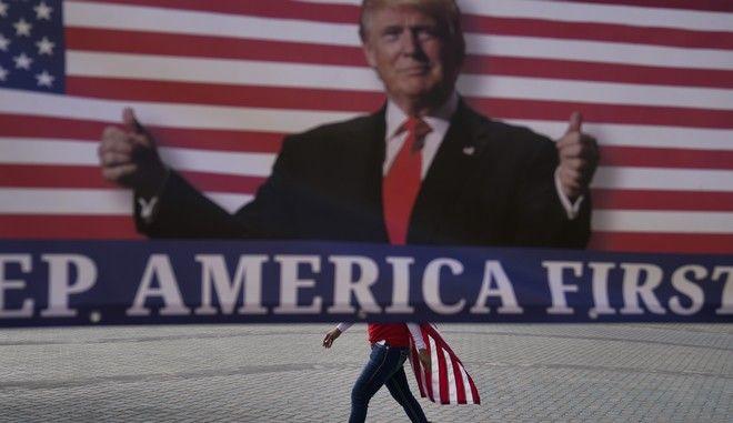 Αφίσα με τον Ντόναλντ Τραμπ