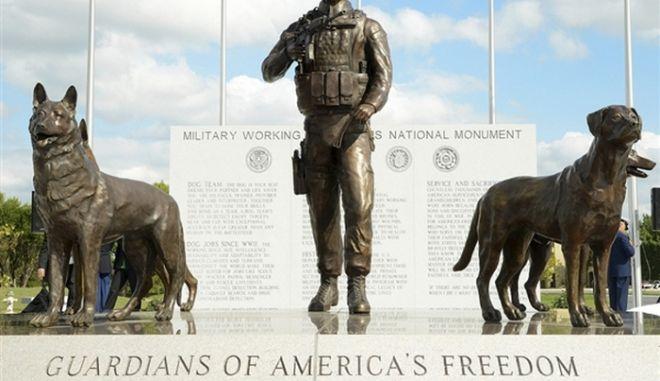 Το μνημείο για τον άγνωστο στρατιώτη σκύλο
