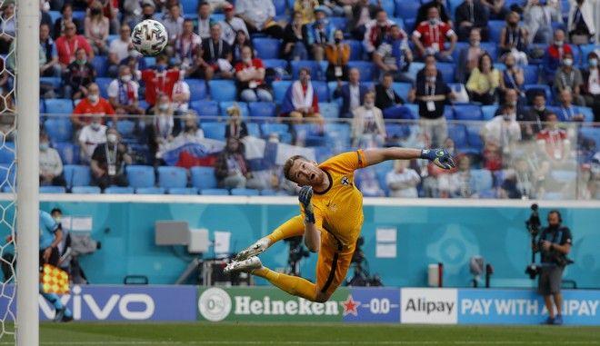 Εικόνα από το παιχνίδι της Φινλανδίας με τη Ρωσία για το Euro 2020
