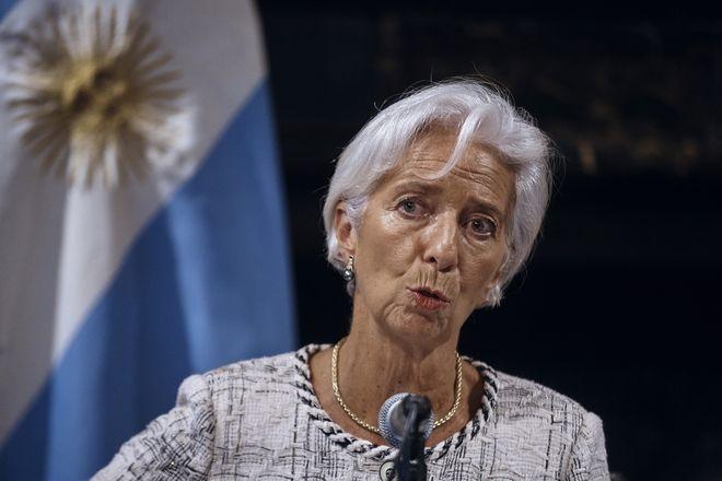 H επικεφαλής του ΔΝΤ Κριστίν Λαγκάρντ