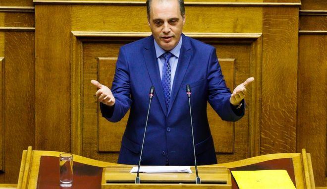 Συζήτηση, σε επίπεδο Αρχηγών Κομμάτων, επί των αναθεωρητέων διατάξεων του Συντάγματος, στην Ολομέλεια της Βουλής την Δευτέρα 25 Νοεμβρίου 2019. (EUROKINISSI/ΓΙΩΡΓΟΣ ΚΟΝΤΑΡΙΝΗΣ)