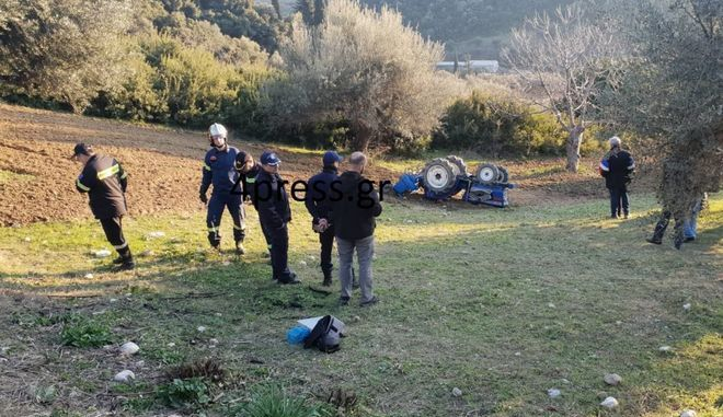 Τραγωδία στην Πάτρα: Νεκρός 58χρονος που καταπλακώθηκε από το τρακτέρ του