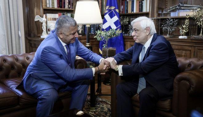 Συνάντηση του Προέδρου της Δημοκρατίας Προκόπη Παυλόπουλου με τον νέο Περιφερειάρχη Αττικής Γιώργο Πατούλη, την Παρασκευή 30 Αυγούστου 2019. (EUROKINISSI/ΓΙΑΝΝΗΣ ΠΑΝΑΓΟΠΟΥΛΟΣ)