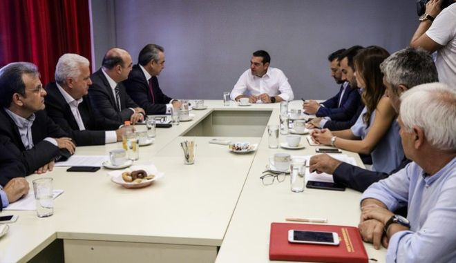 Συνάντηση του προέδρου του ΣΥΡΙΖΑ Αλέξη Τσίπρα με την διοικητική επιτροπή της Κεντρικής Ένωσης Επιμελητηρίων Ελλάδος (ΚΕΕΕ), την Πέμπτη 12 Σεπτεμβρίου 2019.
