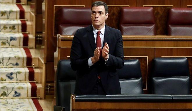 Ο πρωθυπουργός της Ισπανίας Pedro Sanchez
