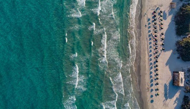 Αεροφωτογραφία από την παραλία Κοχυλάρι στον Κέφαλο της Κω
