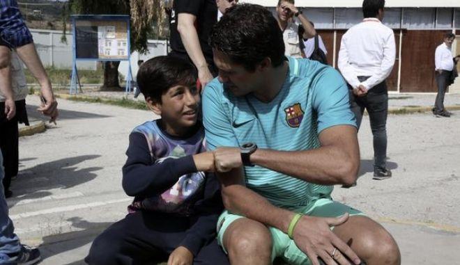 """Μπαρτσελόνα: """"Γήπεδα ονείρων"""" για τα προσφυγόπουλα της Λέσβου"""