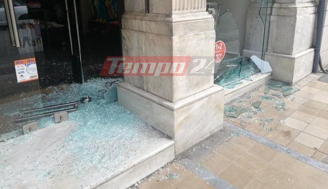 Πάτρα: Καταδρομική επίθεση σε καταστήματα στο κέντρο της πόλης