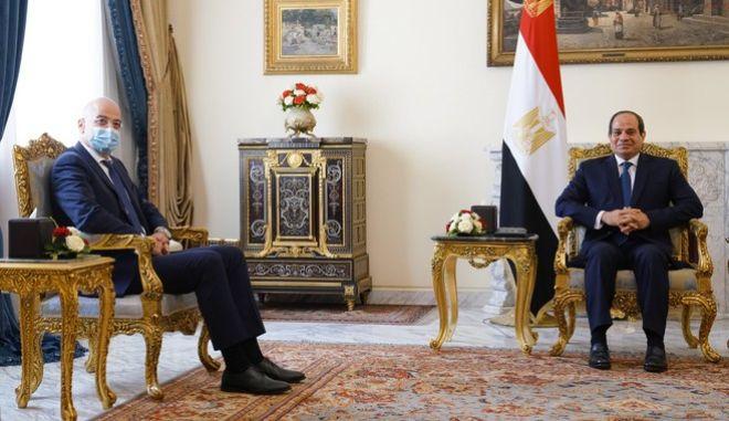 Επίσκεψη Υπουργού Εξωτερικών, Νίκου Δένδια, στην Αίγυπτο και συνάντηση με τον Πρόεδρο της Αιγύπτου, Abdel Fattah el-Sisi