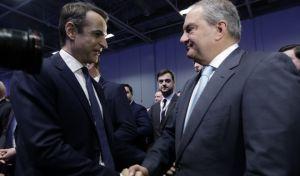 Ο Κυριάκος Μητσοτάκης και ο Κώστας Καραμανλής