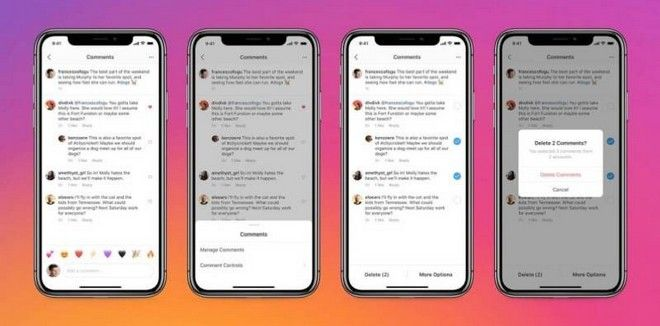 Instagram: Μαζική διαγραφή σχολίων και Pinned Comments
