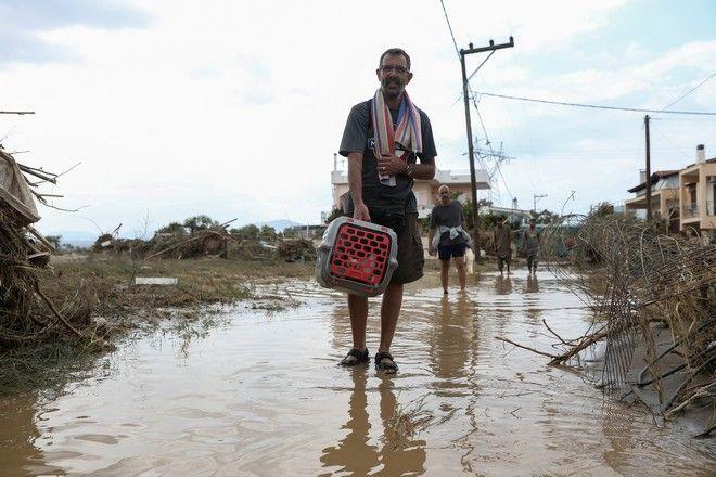 Στιγμιότυπο από την περιοχή Μπούρτζι της Εύβοιας την Κυριακή 9 Αυγούστου 2020. Η περιοχή επλήγη από καταστροφικές πλημμύρες το βράδυ του Σαββάτου 8/8. (EUROKINISSI/ΣΩΤΗΡΗΣ ΔΗΜΗΤΡΟΠΟΥΛΟΣ)