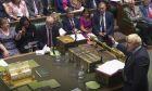 Στιγμιότυπο από την κόντρα στο Βρετανικό Κοινοβούλιο