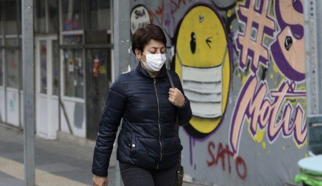 Άνθρωπος με μάσκα στην Τουρκία