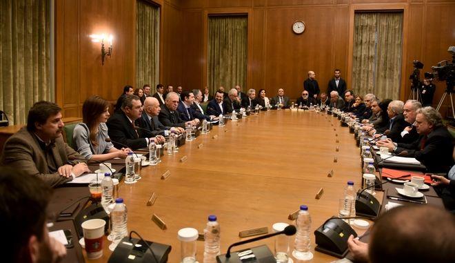 Στγμιτόυπο από την συνεδρίαση του πρώτου υπουργικού συμβουλίου για το 2018,με θέμα το Σκοπιανό με τα τελευταία προαπαιτούμενα για την τελευταία αξιολόγηση,Δευτέρα 8 Ιανουαρίου 2017 (EUROKINISSI/ΤΑΤΙΑΝΑ ΜΠΟΛΑΡΗ)