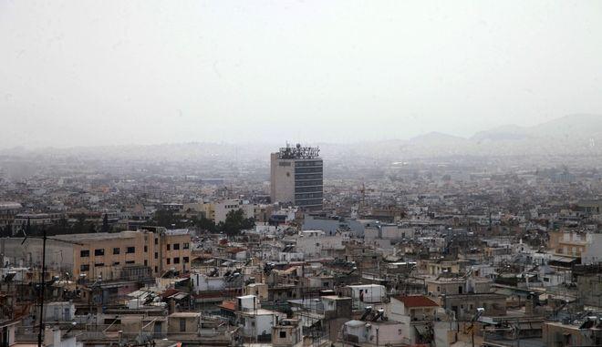 Αφρικανική σκόνη πάνω από την Αθήνα την Πέμπτη 12 Μαΐου 2016. (EUROKINISSI/ΑΛΕΞΑΝΔΡΟΣ ΖΩΝΤΑΝΟΣ)