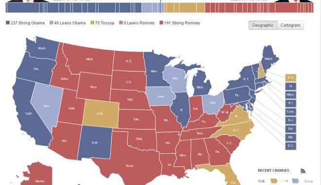 Οι δέκα πολιτείες-κλειδιά όπου παίζεται η προεδρική εκλογή