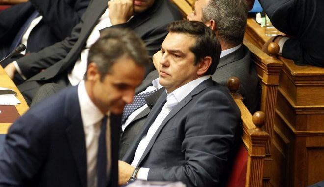 Προ ημερησίας διατάξεως συζήτηση για τη διαφθορά και τη διαπλοκή στη Βουλή, την Δευτέρα 10 Οκτωβρίου 2016.  (EUROKINISSI/ΓΙΩΡΓΟΣ ΚΟΝΤΑΡΙΝΗΣ)
