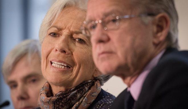 O Τζέρι Ράις με την Κριστίν Λαγκάρντ