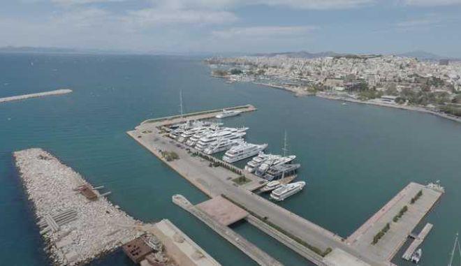 Μαρίνα Νέου Φαληρου.Εικόνες απο Drone.Φωτογραφιες Αντώνης Νικολόπουλος/Eurokinissi