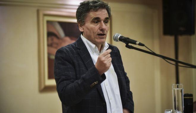 Ομιλία του Υπουργού οικονομικών Ευκλείδη Τσακαλώτου σε εκδήλωση της Νομαρχιακής επιτροπής του ΣΥΡΙΖΑ στον Πειραιά