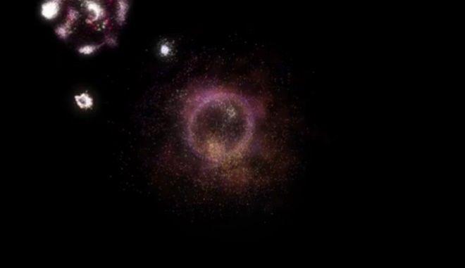 """Ο Γαλαξίας """"δαχτυλίδι της φωτιάς"""""""
