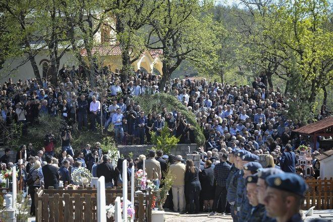 Κηδεία του Σμηναγού Γιώργου Μπαλταδώρου στο Μορφοβούνι Καρδίτσας